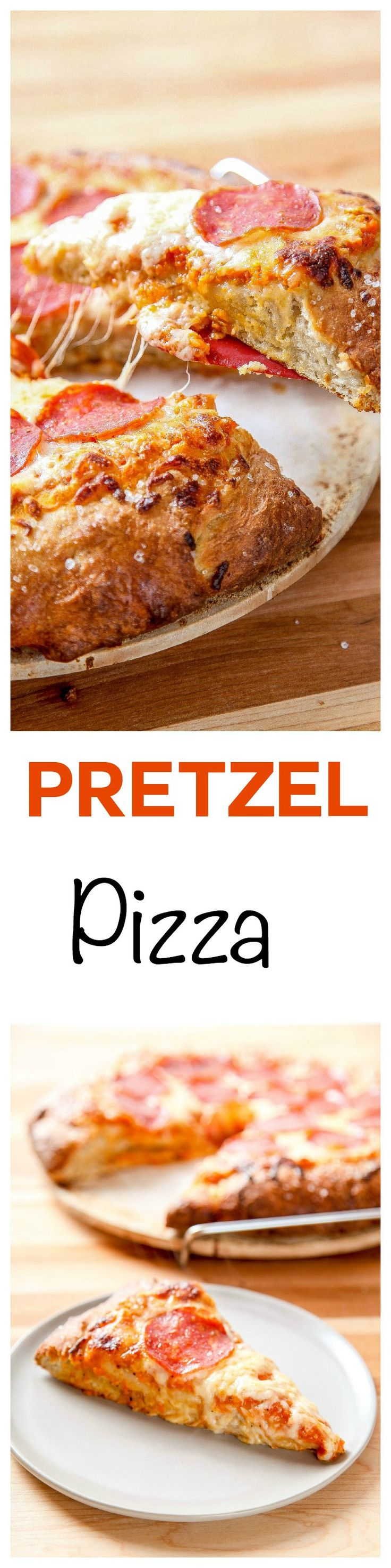Pretzel Pizza: Buttery pretzel crust topped with all your favorite toppings. Quicker and tastier than delivery: no rising needed!