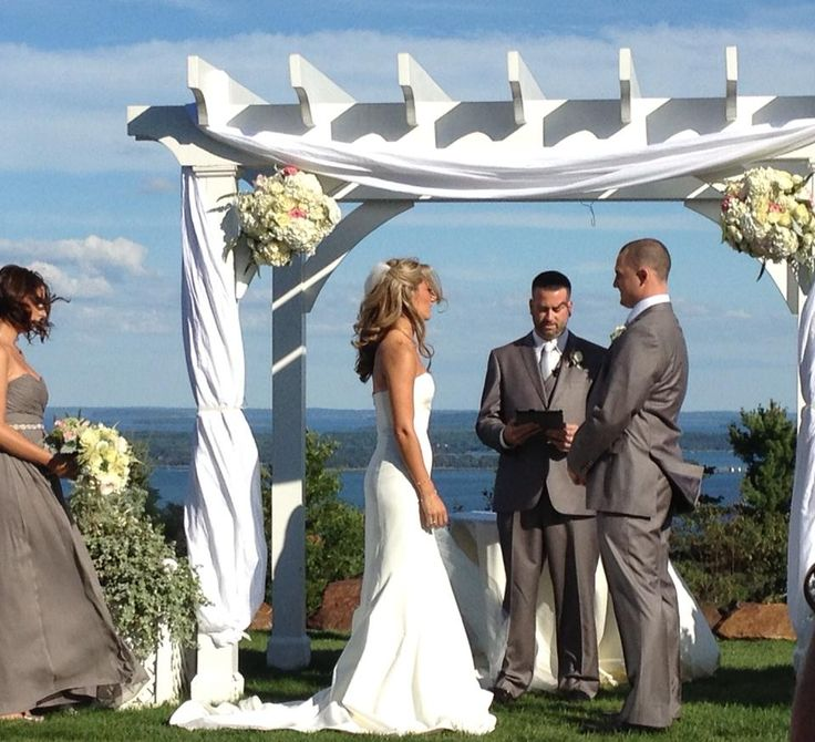 Wedding Arbor Decor With Fabric And Flowers