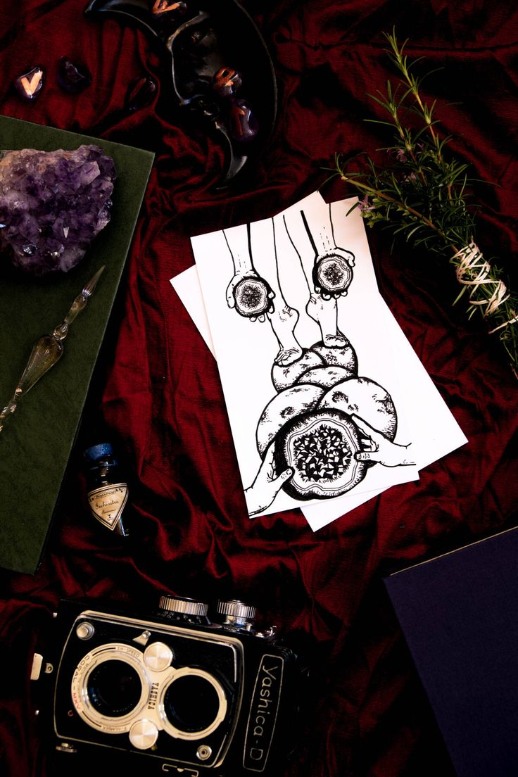 SALE Eight of Pentacles - Blind Tarot Deck Card Ink Illustration - Black & White Crystal Geodes Hand Feet Drawing - Yoga Cartomancy Gift by Inklining on Etsy https://www.etsy.com/au/listing/588133523/sale-eight-of-pentacles-blind-tarot-deck