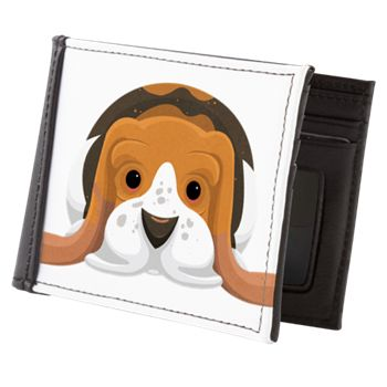 Basset Hound Mens Wallet from cafepress store: AG Painted Brush T-Shirts. #dog #wallet #bassethound