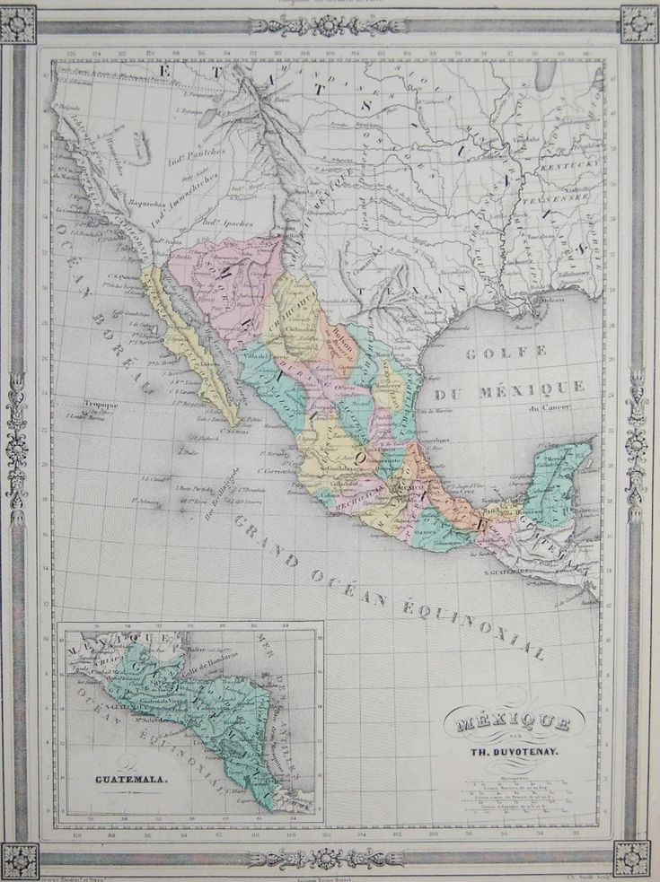 Map Us Before Mexican War%0A      ORIGINAL Duvotenay Texas Republic  Mexico  American Southwest  Mexican  War   eBay