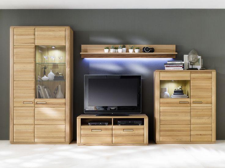 93 best Wohnzimmer   Wohnwände images on Pinterest Living room - wohnzimmerschrank eiche rustikal