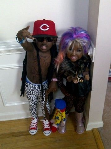 Lil Lil Wayne and Nicki Minaj!! This is wrong on so many levels....but love it