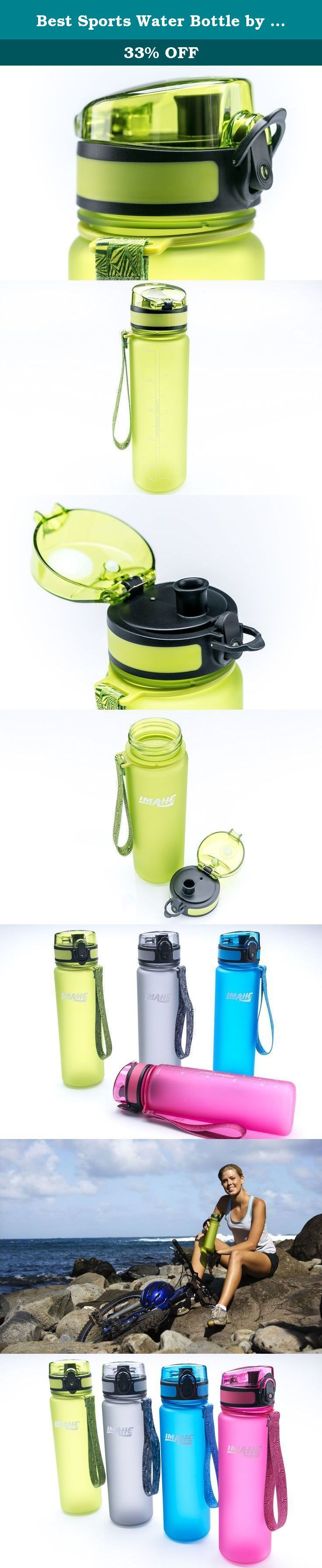 "Best Sports Water Bottle by Imahe (Green) - BPA-Free Plastic, Small 18oz Capacity, Shatterproof - Stylish Colors and Design, Reusable Sports Water Bottle Includes Strap, Self-Sealing Cap, Opens With 1-Click - For Kids and Adults, Men and Women, Perfect Camping Water Bottle, Cycling, Yoga, Gym, Running and Outdoors. IMAHE SPORT WATER BOTTLE Our customers are thrilled with the Imahe Sports Water Bottle: ""I love this bottle so much,"" ""It's light weight... and just perfect for my workouts,""..."