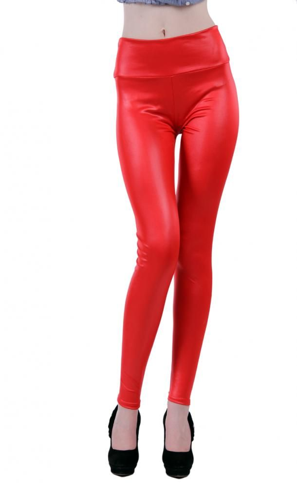 Red Faux Leather Leg Wear Stockings  $18.37