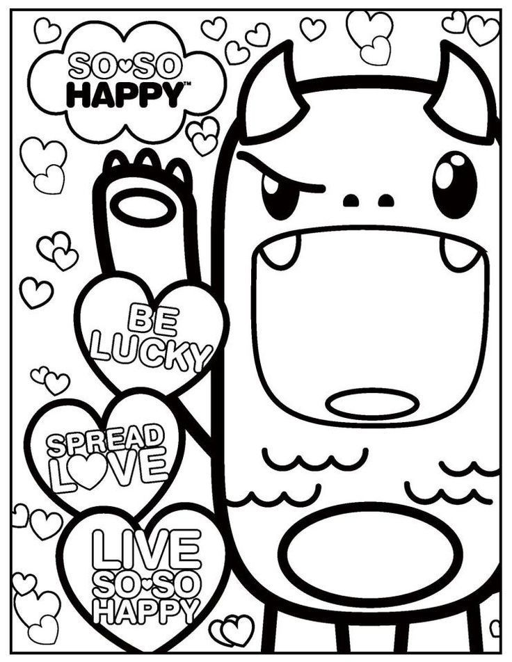 Kawaii Coloring Pages Free Adult Book Pinterest Rhpinterest: Kawaii Disney Coloring Pages At Baymontmadison.com