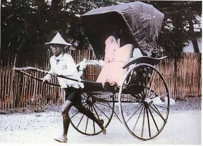 The rickshaw was a popular means of transportation in the early 1900s - Penang, Malaysia (Picture courtesy of National Archives)