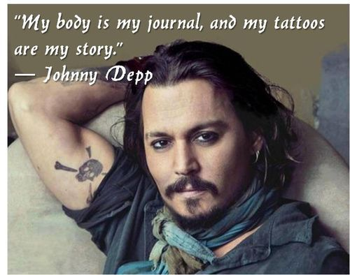 Tattoos AND Johnny Depp? Yes please!