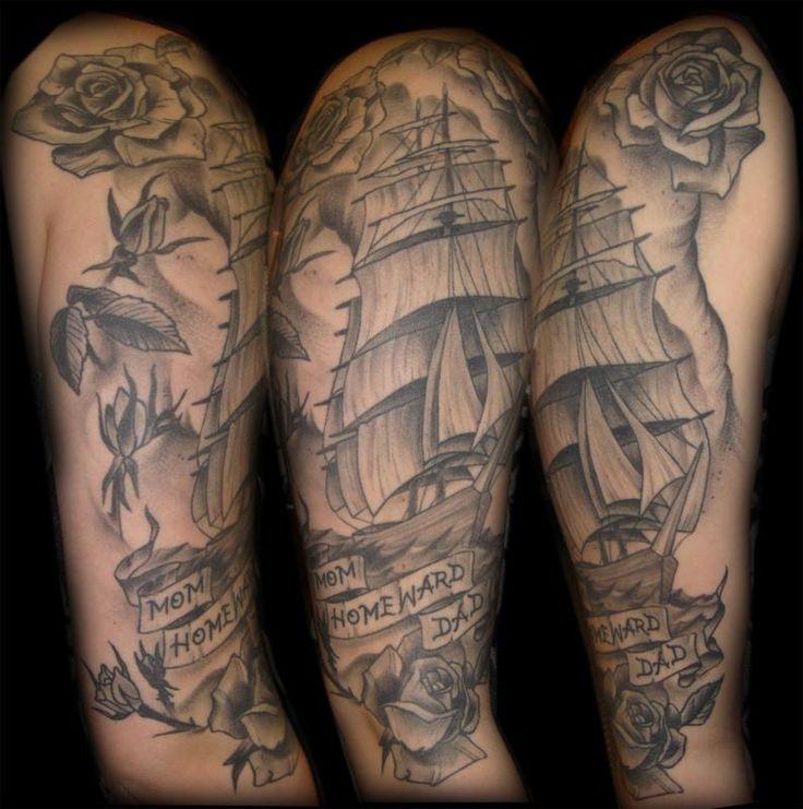 17 Best Ideas About Mens Half Sleeve Tattoos On Pinterest