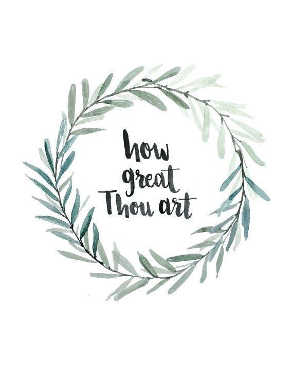 how great thou art. laurel wreath.