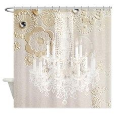 Exceptionnel Elegant Chandelier Floral Paris Shower Curtain For