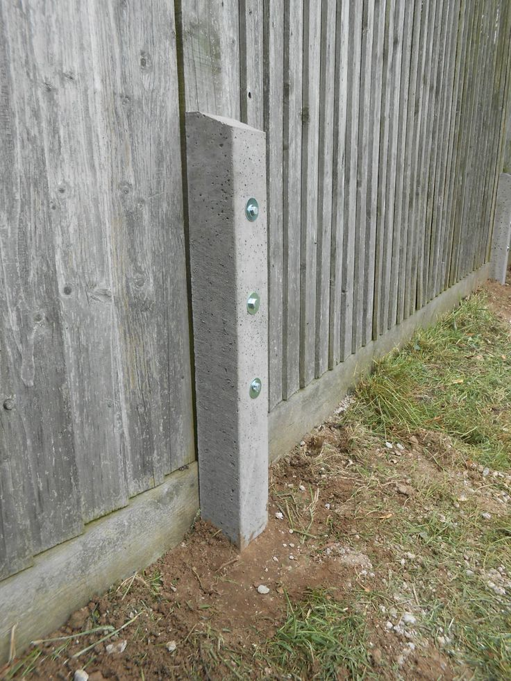 Top 25 best fence post repair ideas on pinterest cedar for Garden fence posts ideas