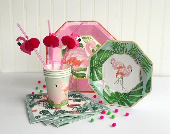 Flamingo Party Supplies Flamingo Party Plates Flamingo Party