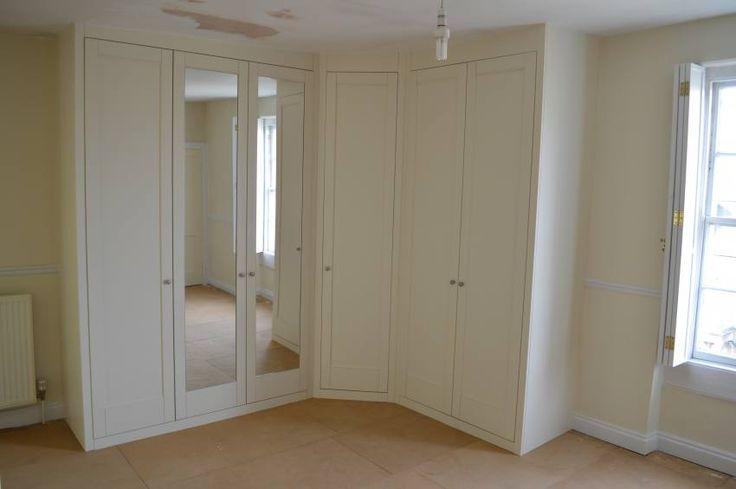 17 best ideas about minimalist pencil pleat curtains on pinterest tab curtains diy curtains - Corner wardrobe design ...