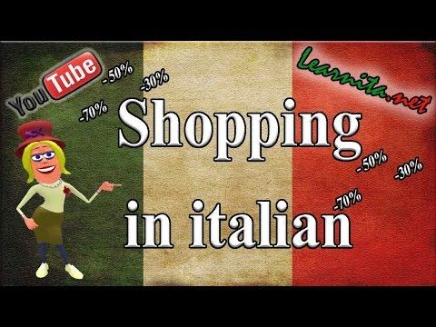 Conversation in italian - Phrases for shopping in italian - At the clothes store - YouTube