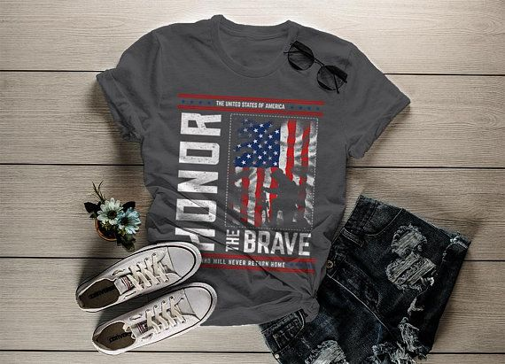 Mens Three Eagles Independence Day American Flag 4th of July T shirt