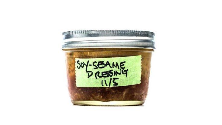 Soy-Sesame Dressing Recipe | Bon Appetit I love this dressing