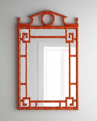 LOVE this pagoda mirror - great color and beautiful statement piece in a room: