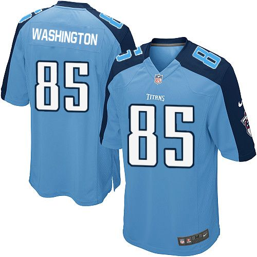 Youth Nike Tennessee Titans #85 Nate Washington Elite Light Blue Team Color NFL Jersey Sale