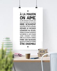 Affiche très tendance pour une décoration dans l'entrée, la cuisine ou le salon de la maison ! A la lecture de cette affiche, on a le sourire jusqu'au soir :)  Fichier A TELEC - 15123637