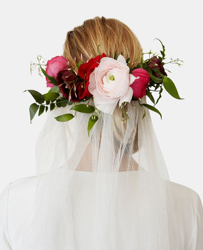 We're Obsessed With Stone Fox Bride's New Floral Veils - The Knot Blog