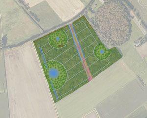 Landscape design by Vollmer & partners for a natural burial site near Grolloo (Drenthe): Natuurbegraafplaats Drenthe