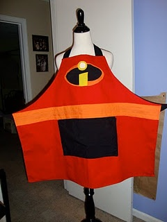 Mr Incredible apron tutorial