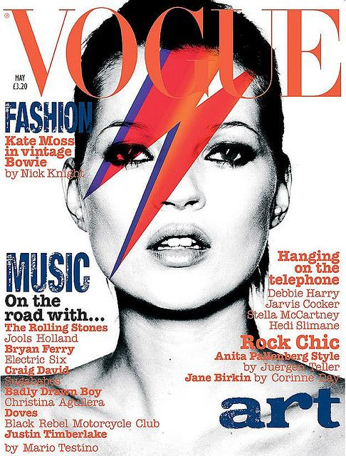 Kate Moss in Vintage Bowie #love