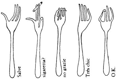 Bruno Munari, Hands-forks Forchette-mani