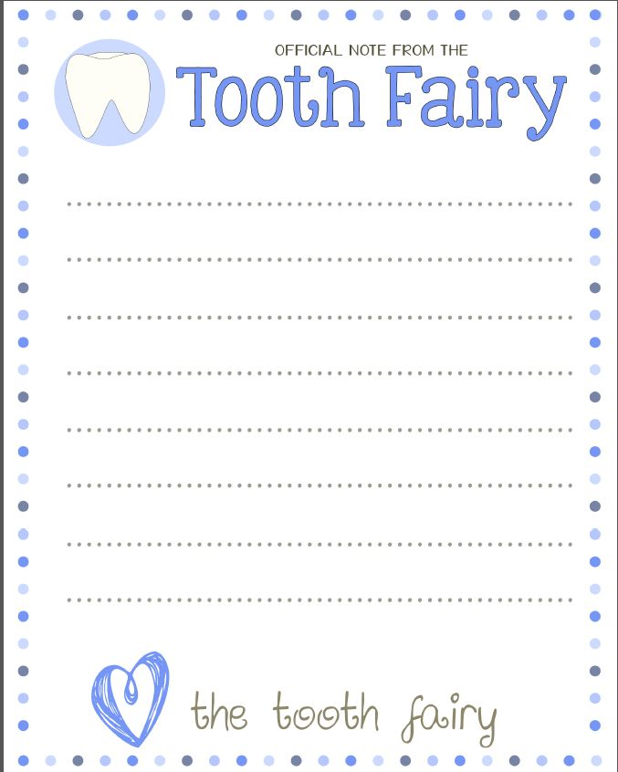 photograph about Tooth Fairy Stationary named Dental Physical fitness Poem: A Be aware Versus The Enamel Fairy printable