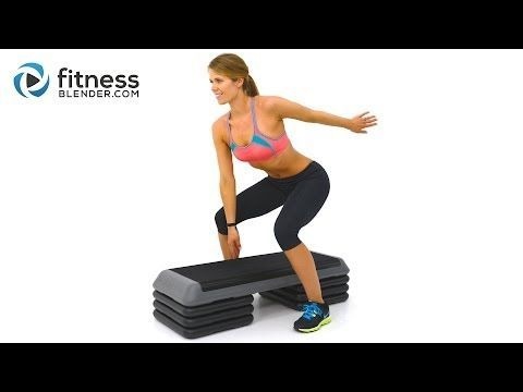 Fat Burning Cardio Step Workout for Butt and Thighs - Step Aerobics Workout Video - YouTube