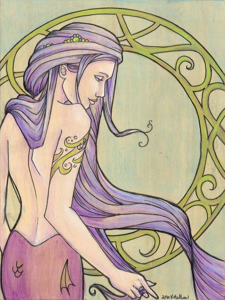 Tattooed Mermaid Series, Piece 3 Signed Print (Item 03-107-BB)