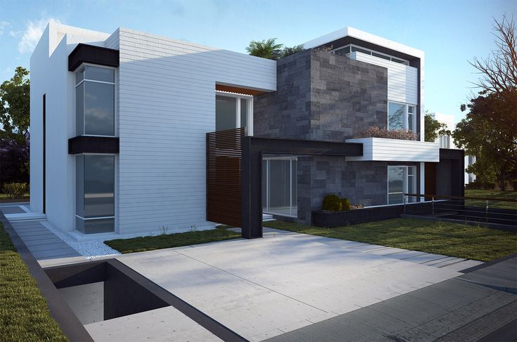 Modern Villa Design with classical colors.