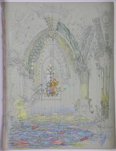 David Eager-Maher  Chandelier  Watercolour & pencil on paper     Size 30cm x 24cm