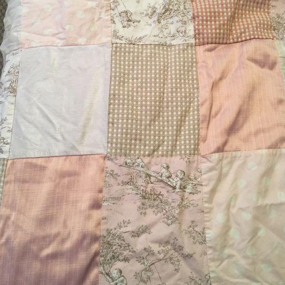 Pink Cream Amp Tan French Toile Crib Bedding Set Set