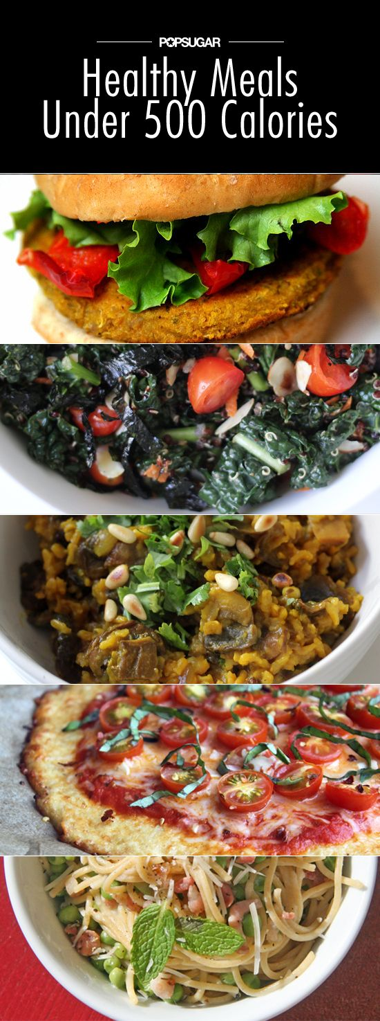 Satisfying, healthy meals all under 500 calories.