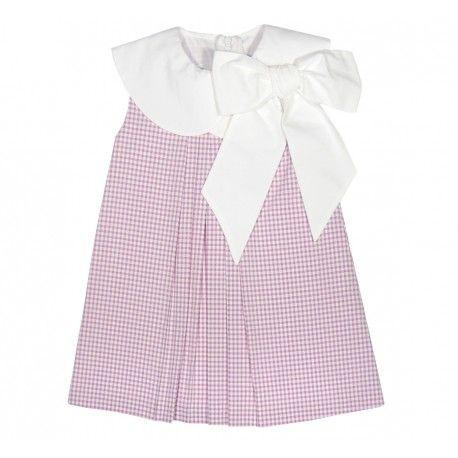 www.pepaonline.com Para todo! Vestido de cuadros malva de la Marca Eve Children en Outlet para Niña (2-12 años). Compra online la moda de niños rebajada de primeras marcas