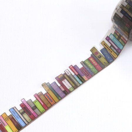 yano design マスキングテープ<本棚 Bookshelf> スクラップブッキングに最適 <メール便指定OK>【楽天市場】