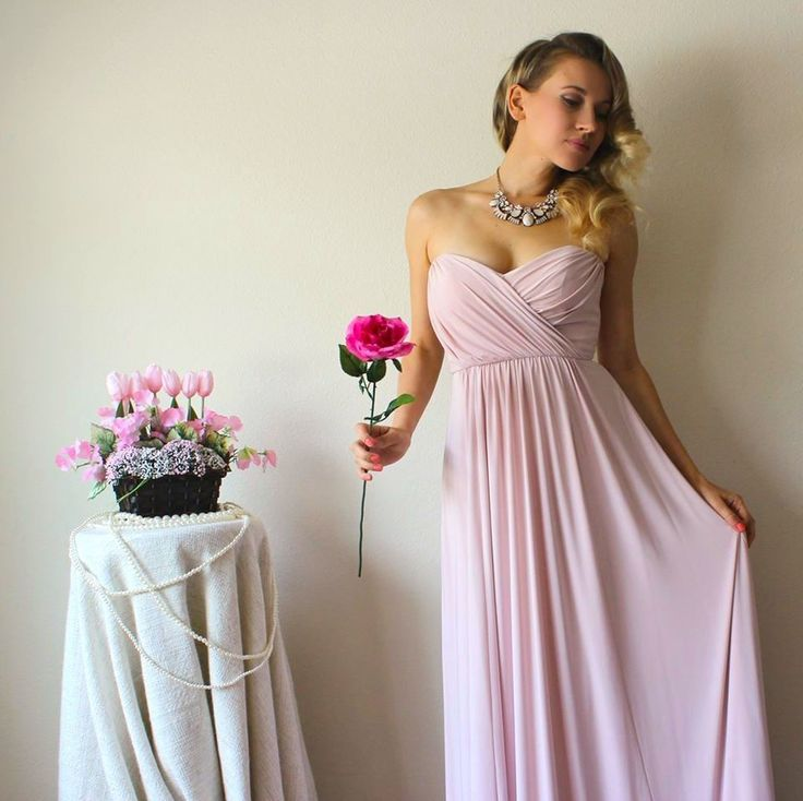 Fabulous We are swooning over Natalie Aley in our blush convertible Twist bridesmaid dress Rent the
