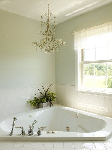 Bathroom Tub Chandeliers 11 best corner bath ideas images on pinterest | bathroom ideas