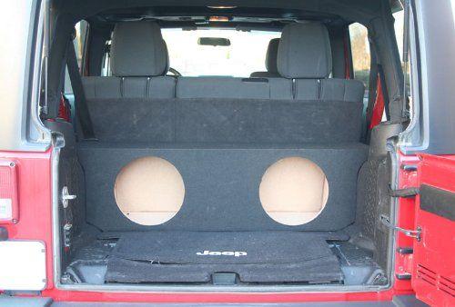 "ASC JK Jeep Unlimited 4 Door Dual 12"" Kicker Subwoofers and Box"