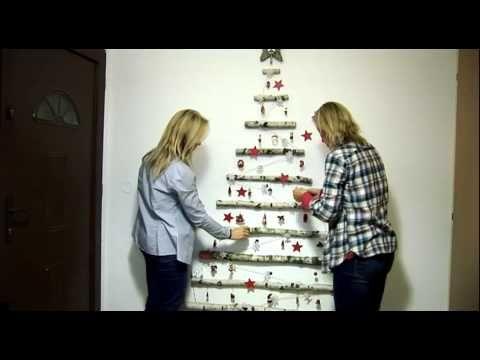 Vánoční stromek na zeď