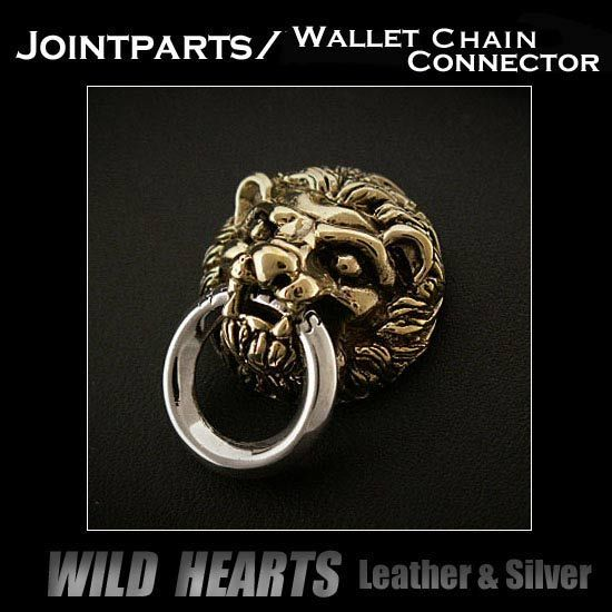 Wallet Chain Silver925&Brass Connector Jointparts Sterling Silver Door Knocker Jointparts  WILD HEARTS Leather&Silver http://item.rakuten.co.jp/auc-wildhearts/sc1455/