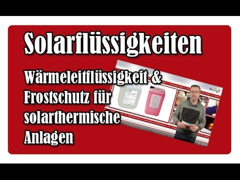 In thermischen Solaranlagen befindet sich zum Abtransport der gewonnenen Wärme zwischen Solarkollektor und solarem Wärmespeicher eine zirkulierende Flüssigkeit - die Solarflüssigkeit (auch oft Wärmeträgerflüssigkeit genannt). Sie besteht nur selten aus reinem Wasser, sondern ist oft ein spezielles Gemisch, das die Solarheizung vor besonders niedrigen oder hohen Temperaturen schützt.  Wir stellen Euch  die unterschiedlichen Typen von Solarflüssigkeiten vor und erklären, welche…