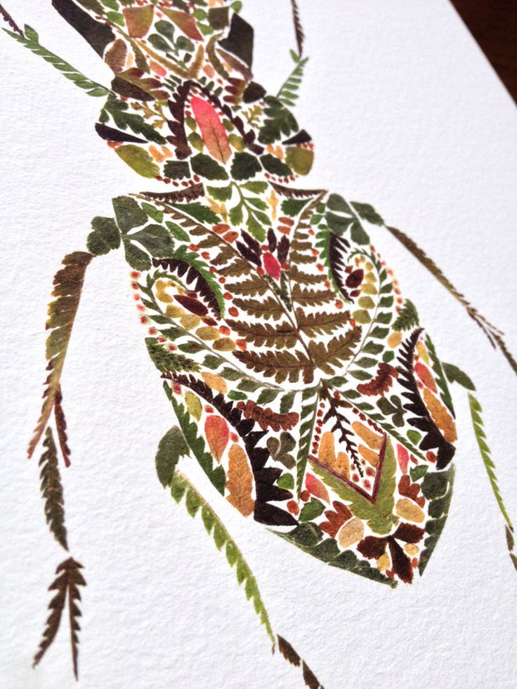Artist and illustrator Helen Ahpornsiri creates incredible pressed fern illustrations from her studio in East Sussex. Tiny bits of stems and leaves are arranged on paper to create butterflies, dragonflies, and birds scarcely larger than a coin.