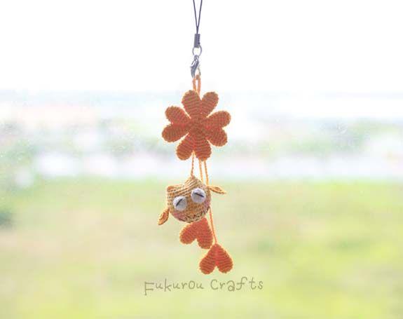 fukuroucrafts: Crochet Lucky charms, lucky doll, green owl doll, ...