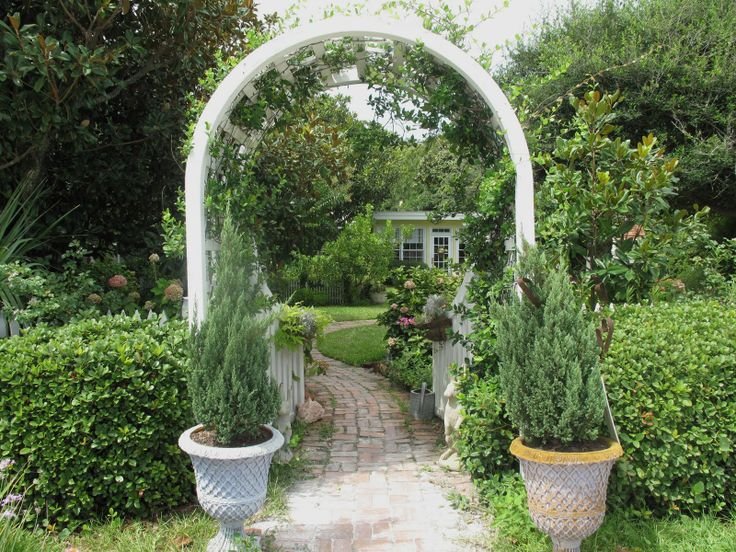 Garden Gate Arbors Designs what an incredible vintage iron design those are big trees to be growing in those iron garden gatesiron Find This Pin And More On Garden Gate Arbor Fence