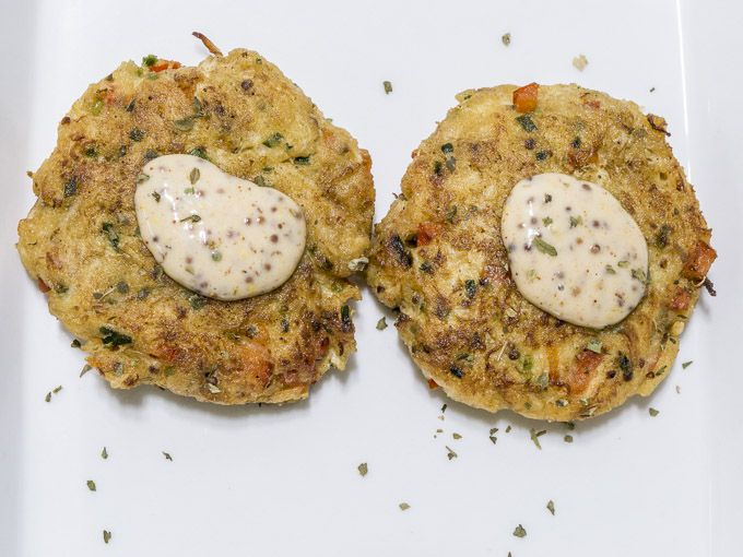 Crab Cakes with Spicy Mustard Remoulade
