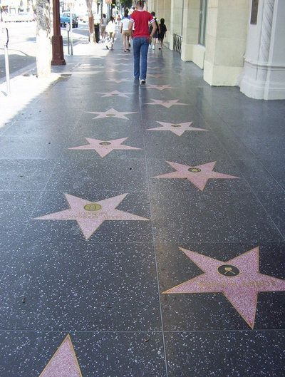 See the Hollywood Walk of Fame!
