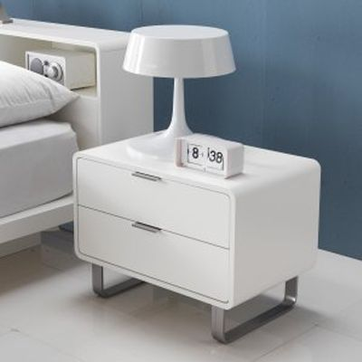 Morgan Side Bed with Stainless Steel Legs and Handle